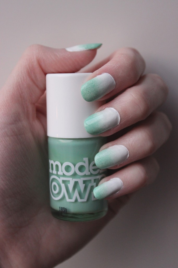 green and white gradient
